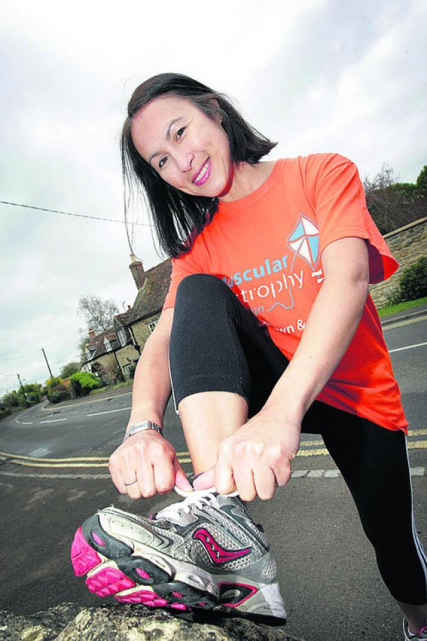 Maria Keenan practises for the Town and Gown run