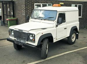 Land Rover Defender with access platform