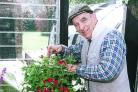 Ronald Taylor with his plants in 1998