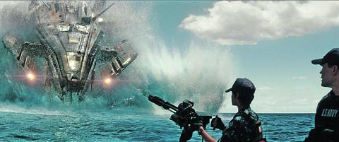 "BATTLESHIP: ""is all about the slam-bang spectacle and 'Battleship' delivers, guns a-blazing...'"
