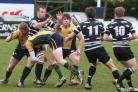 Centre Trevor Powell, seen here off-loading to Tristan Corpe in Saturday's Oxfordshire Cup final victory over Henley, is added to Chinnor's squad to face Newton Abbot