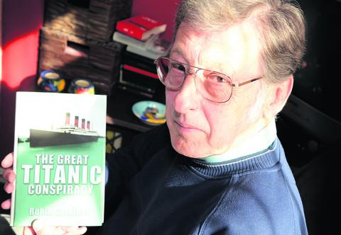 Robin Gardiner with a copy of his book