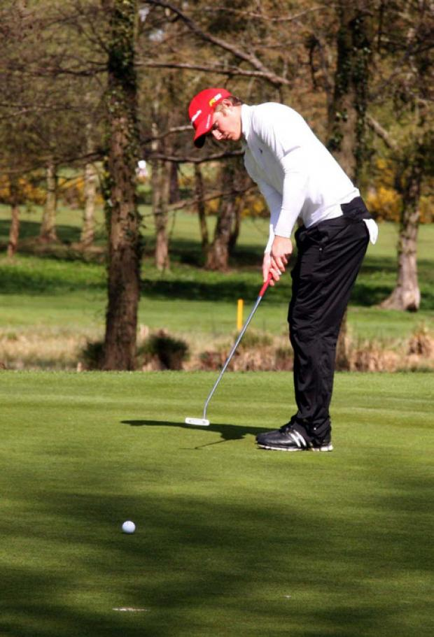 Eddie Pepperell in action at the EuroPro Final Qualifying School at Frilford Heath