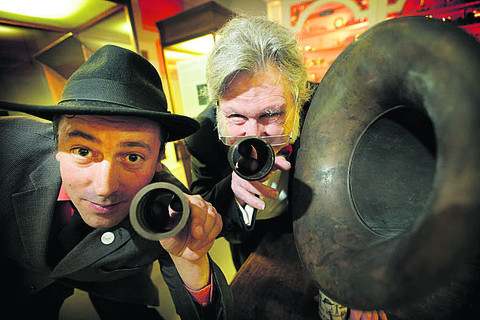 RABBITING ON: Stuart Macbeth with Shellac Collective's Greg Butler -  and the wax cylinders