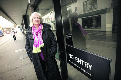 Elaine Hornsby, pictured in front of the former Wallingford Waitrose site