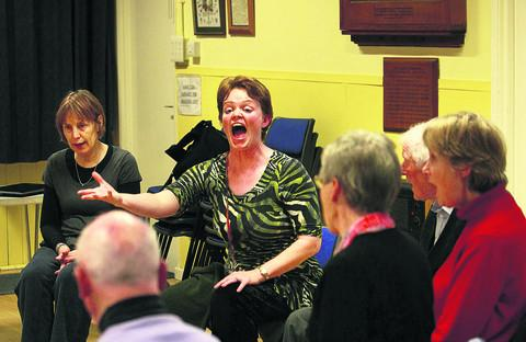 Singing is a tonic for group patients