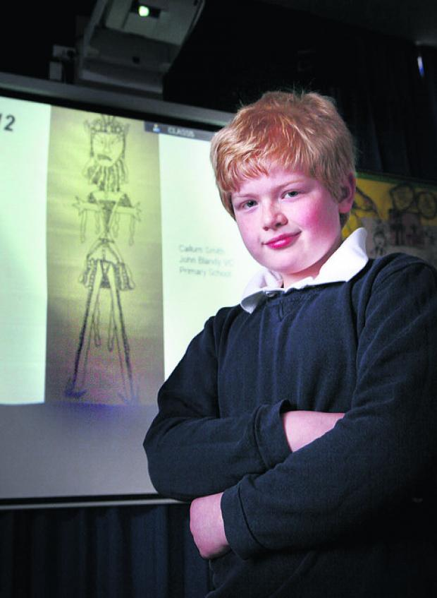 Callum Smith beat 1,000 other pupils with his wicker man design