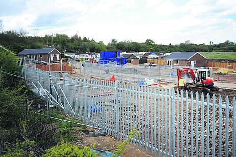 Building work gets under way to create nine new plots for travellers at the Redbridge Hollow Camp on the site of the old superdump