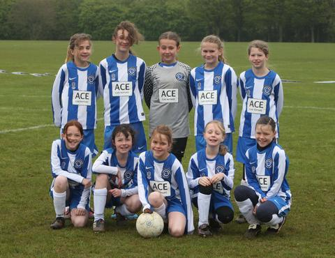 Stonesfield Strikers, who beat Tower Hill Vixens Red 1-0 in the Under 11 League