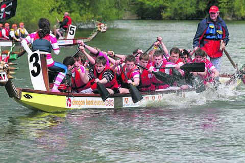 The River in Abingdon will be filled with hundreds of fundraisers rowing to drum beats