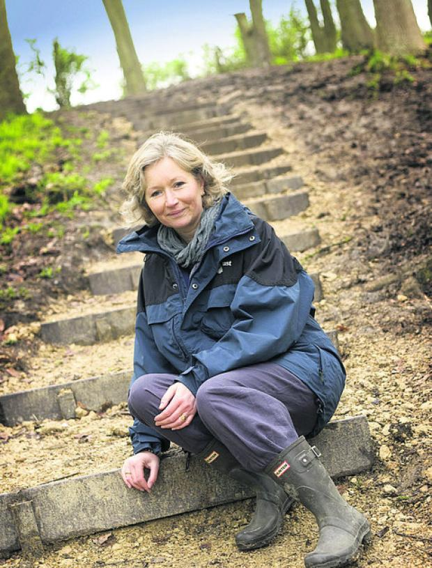 Earth Trust director Jayne Manley on the new steps at Wittenham Clumps
