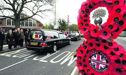 The repatriation of Guardsman Michael Roland at the First Turn, Headley Way