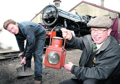 Fireman Alex Beasley and Roger Orchard