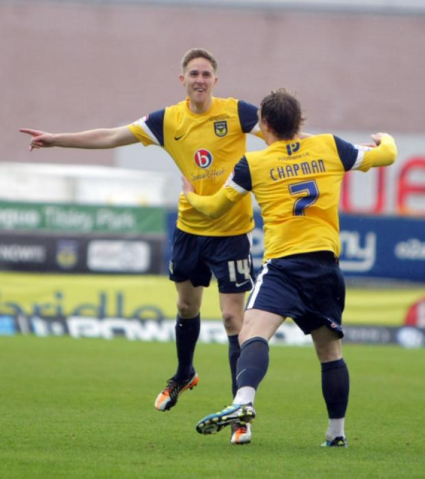 Oxford Mail: Asa Hall (left) and Adam Chapman will find out today if they will be offered new contracts for next season