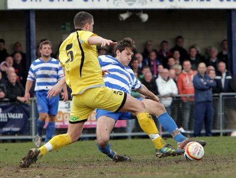 City youngster Albi Skendi in action against AFC Totton