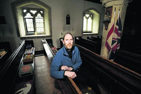 Tim Stead, vicar at Holy Trinity Church
