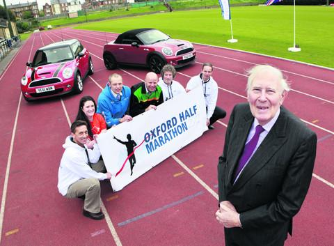 Pictured at the Iffley Road track at the launch of the Oxford half marathon are
