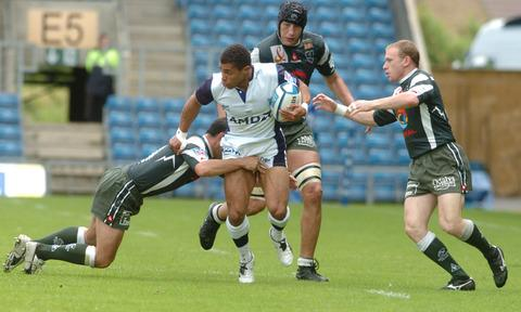 The Kassam Stadium staged the European Challenge Cup final in 2005 when England World Cup winner Jason Robinson, pictured taking on the Pau defence, was in the victorious Sale Sharks team. Now top-flight rugby could be on its way to Oxford