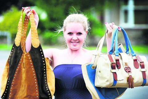 Hayley Miller has gone from being homeless to linking up with factory in China to make her own handbag designs