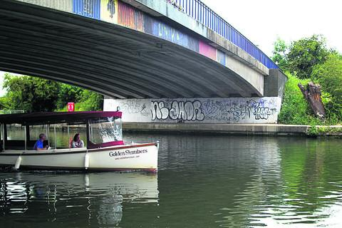 Graffiti blights Olympic Torch route through Oxford