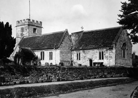Old Marston Church pictured in 1966