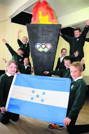 Children from John Hampden Primary School in Thame will be at the Olympic Stadium Picture: OX53180 Marc West