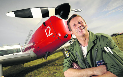 Pilot Steve Morrell pictured in front of his De Havilland DHC-1 Chipmunk 22 plane based at Oxford Airport in Kidlington. Picture: David Fleming
