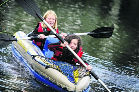 Molly Walton, eight, from Stadhampton – pictured right with Charlotte Evans – also enjoyed the activities