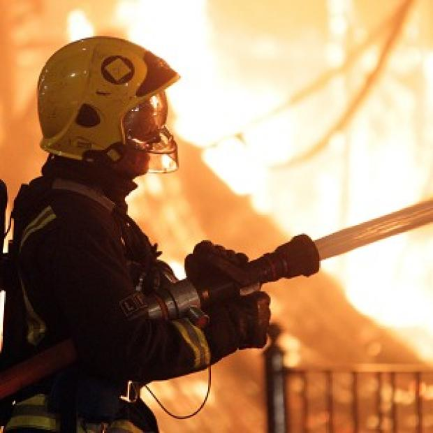 Forty firefighters tackled the blaze at the former hostel building in Lower Clapton Road in Hackney