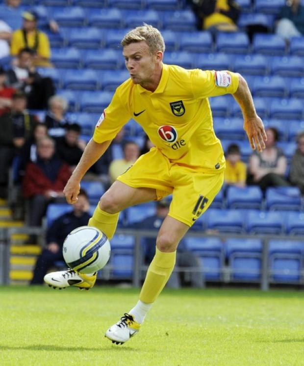 Oxford United winger Alfie Potter, seen here in action against Cardiff in Saturday's friendly, is looking to keep up his impressive pre-season form when they travel to Eastleigh tonight