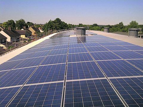 Solar panels at Bartholomew School in Eynsham