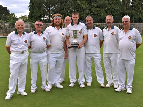 Carterton with the Oxfordshire Bowling Association's Hawker Cup