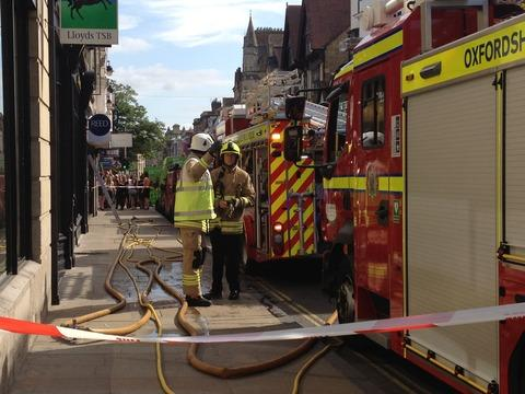 Firefighters tackling blaze in Oxford High Street