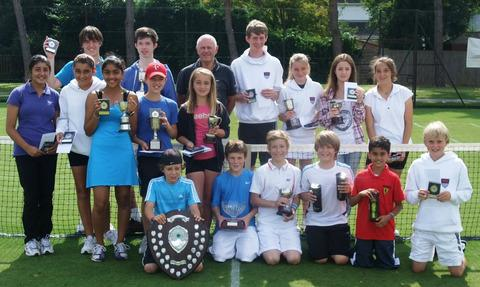 Winners at the Oxon junior closed tournament with their trophies