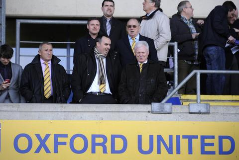 Oxford Mail: Jim Rosenthal (left) and Kelvin Thomas (centre) have left Oxford United, leaving U's chairman Ian Lenagan (right) and his sons, Simon and Adrian, as the only directors of the club
