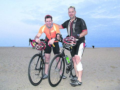 Chris Shadbolt (right) and Dave Newton