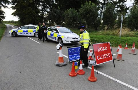 Police cordon in place at Little Tew