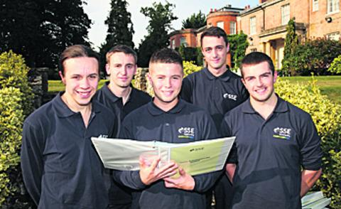 Front from left, Luke Wiltshire, Damon Brewerton, Tom Footitt. Back, Richard Hatton and Ricky Doran