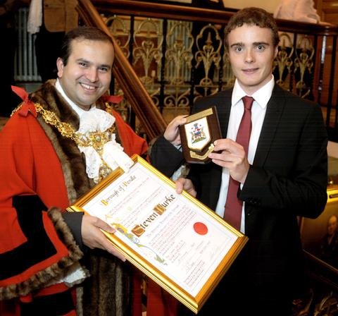 Oxford Mail: Steven Burke becomes a freeman of Pendle