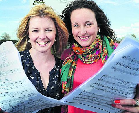 Lucy Rutledge, left, and Laura Bresciani of Abingdon Military Wives Choir