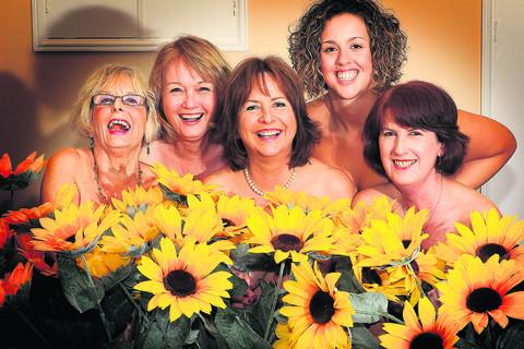 Witney Dramatic Society members including Marge scholes, Teresa Heys, Margaret Hamm, Danielle Gore and Wendy Lodge will perform Calendar Girls