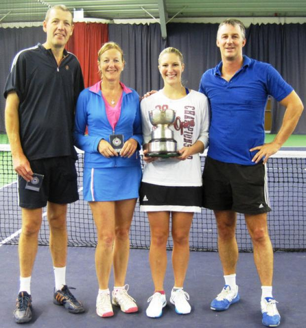 Mixed double finalists (from left): Roger Maris, Ana Coggon, Anneka Smith and Andy Firth