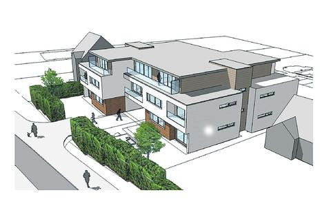 The revised plan for 12 apartments at West Way, Botley