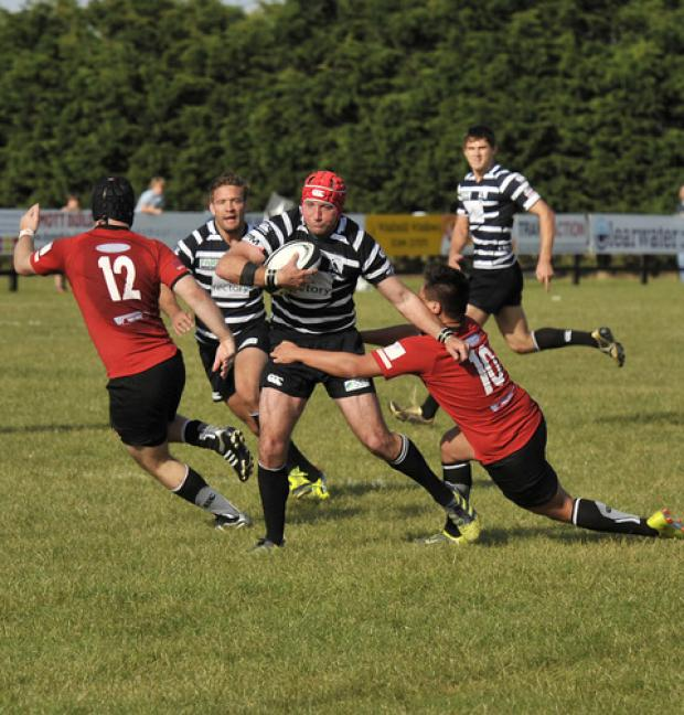 Chinnor centre Sam Stoop impressed against Worthing