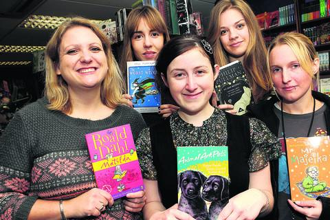 Staff at Blackwell's bookshop in Broad Street with their favourite children's books from their own childhood – from left, Rebecca Waiting, Gabby Penfold, Hannah Chinnery, Emily Sargeant and Harry Ware