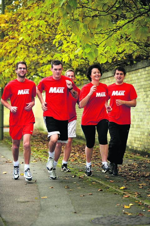 From left, the Oxford Mail team of Matt Bassett, Jason Collie, Will Preene, Gay Hubbard, and Ben Wilkinson
