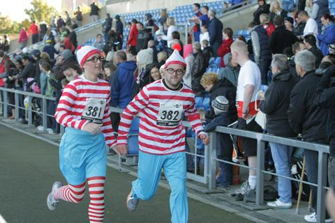 We know where Wally was during Sunday's half marathon