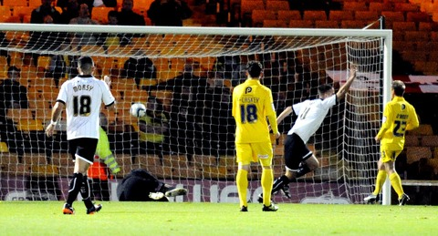 Tom Pope gives Port Vale the lead