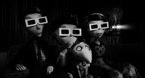 "FRANKENWEENIE: ""The black-and-white visuals are crisp and every frame is peppered with horror references and in-jokes"""