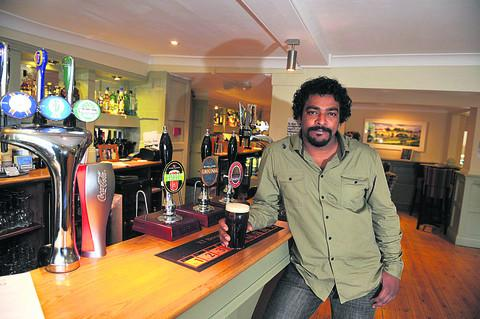 New landlord of the Nag's Head Dushan Salwathura